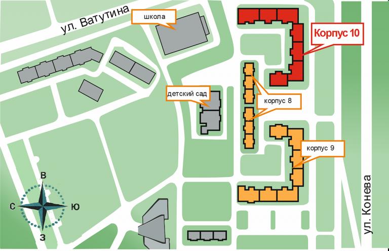 Карта ЖК Садовый